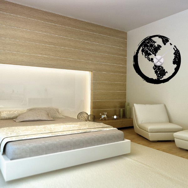 stickers muraux horloge geante sticker mural horloge g ante gros chiffres design sticker mural. Black Bedroom Furniture Sets. Home Design Ideas